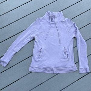 For the Republic Mock Turtleneck Lilac Pullover